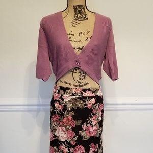 Emma lavender shrug cardigan, good condition